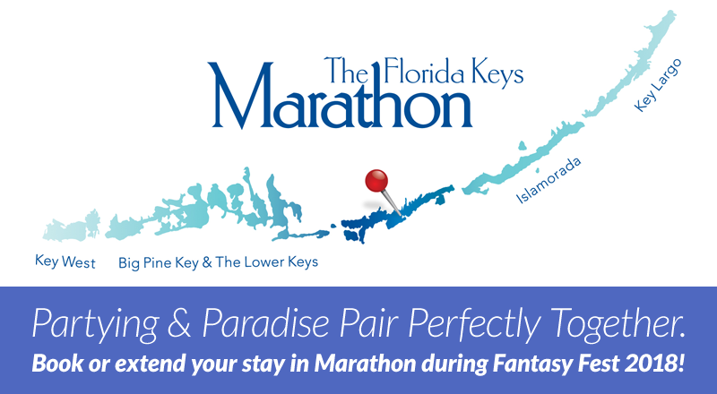 Partying & Paradise Pair Perfectly Together. Book or extend your stay in Marathon during Fantasy Fest 2018!